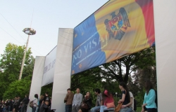 Chisinau. Celebrating the abolition of the visa system between the EU and Moldova.