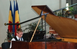 "The trophy of the International Piano Competition ""Clara Peia"" was awarded to Christian Pantelei from Chisinau"